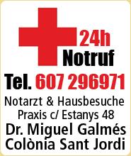 Arzt medico doctor 24h Colonia Sant Jordi